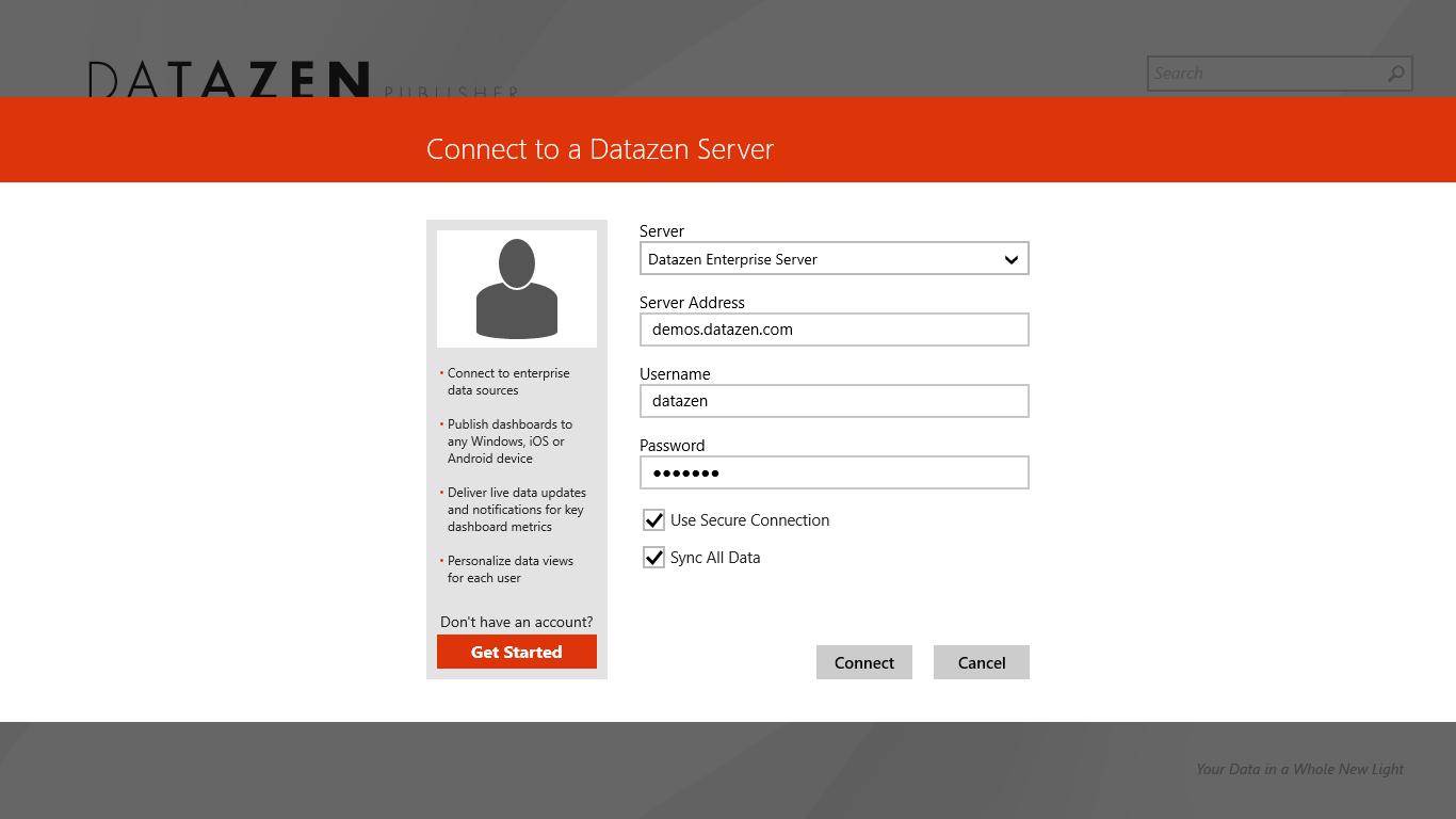 DataZenClientScreen