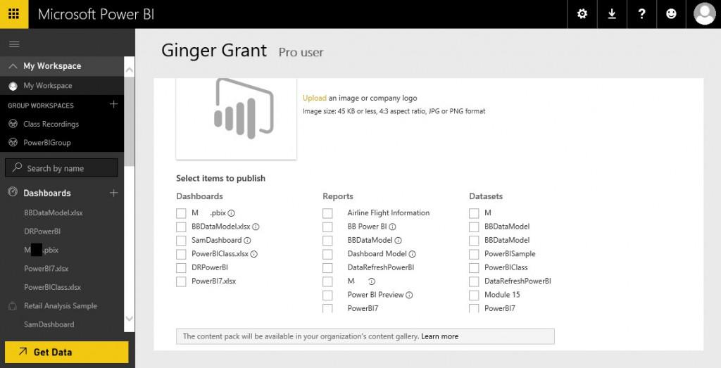 PowerBiCreatingContentPacks