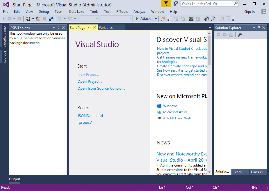 Visual Studio R Tools