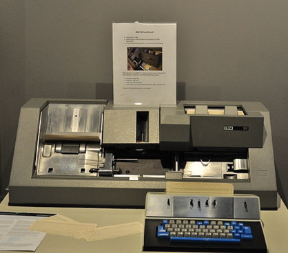 IBM PunchCard computer reader