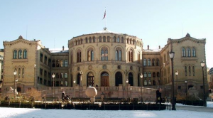 Norway Parliament Building in Oslo