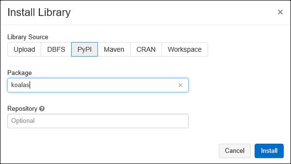 Install Databricks Library